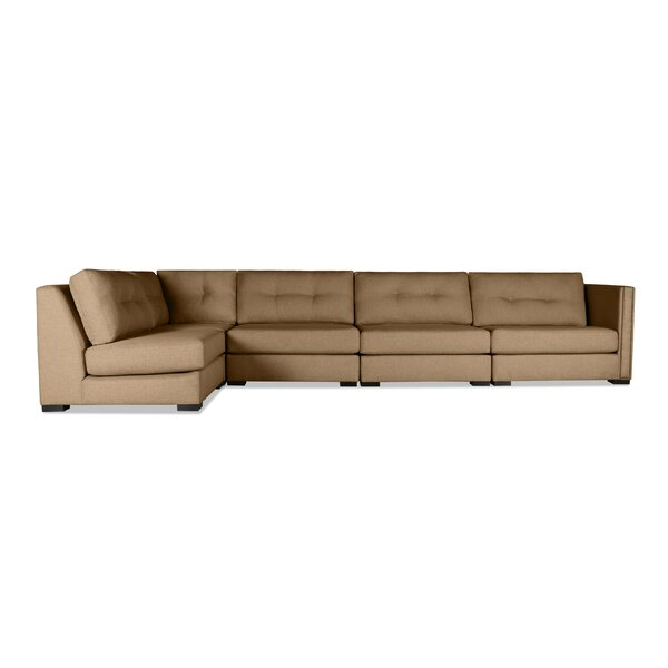 Timpson Buttoned Left L-Shape Modular Sectional by Latitude Run