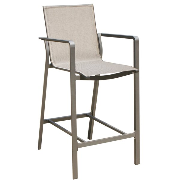 Jarry 28'' Patio Bar Stool (Set of 16) by Orren Ellis