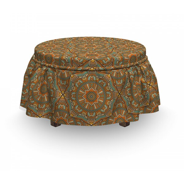 Boho Moroccan Star Ottoman Slipcover (Set Of 2) By East Urban Home