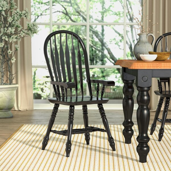 Strope Malaysian Oak Windsor Back Solid Wood Dining Chair by Loon Peak