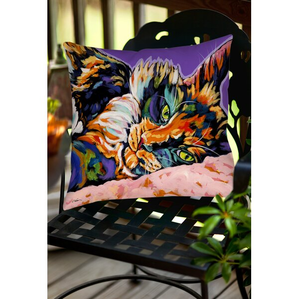 Calico Dreams Indoor/Outdoor Throw Pillow by Manual Woodworkers & Weavers