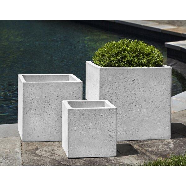 Pettitt Square 3-Piece Fiber Cement Pot Planter Set by Latitude Run
