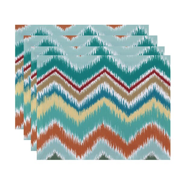 Massey Chevron Stripes Placemat (Set of 4) by Ivy Bronx