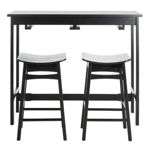 Chaska 3 Piece Pub Table Set By Ebern Designs New