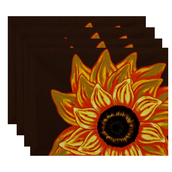 Essonne El Girasol Feliz Floral Print Placemat by August Grove