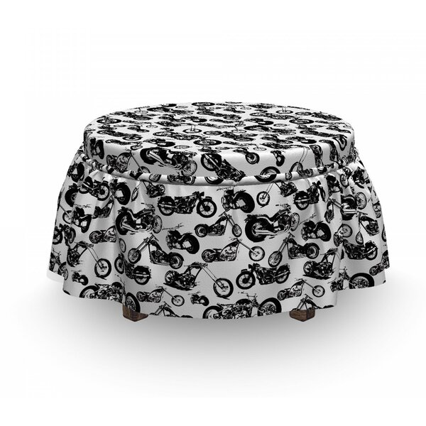 Models Of Motorbike Ottoman Slipcover (Set Of 2) By East Urban Home