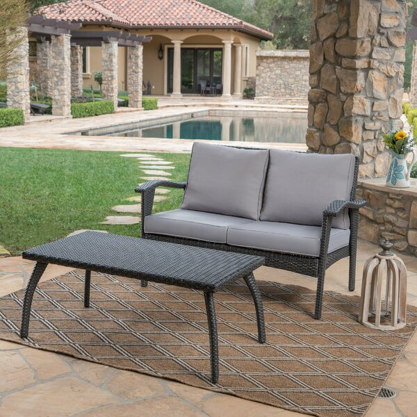 Hagler 2 Piece Sofa Seating Group with Cushions by Sol 72 Outdoor Sol 72 Outdoor