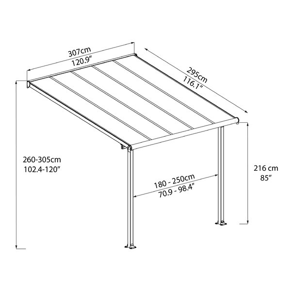 Olympia Patio Awning by Palram
