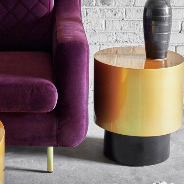 Fieldston Accent Stool by Everly Quinn