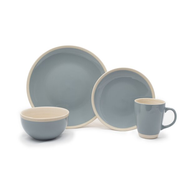 Morley 16 Piece Dinnerware Set, Service for 4 (Set of 16) by Highland Dunes