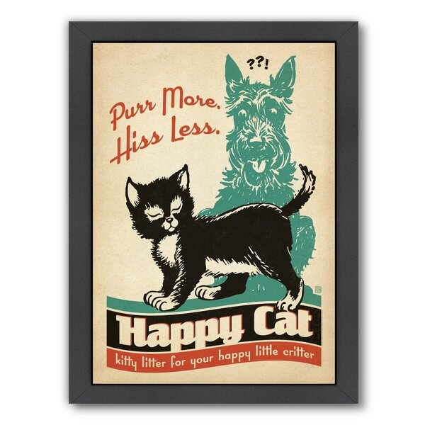 Cat Purr More Framed Vintage Advertisement by East Urban Home