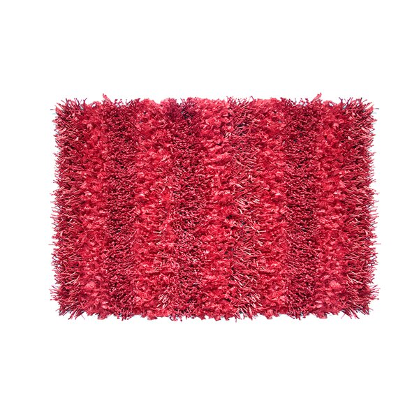 Grimmett Hand-Woven Red Area Rug by Ebern Designs