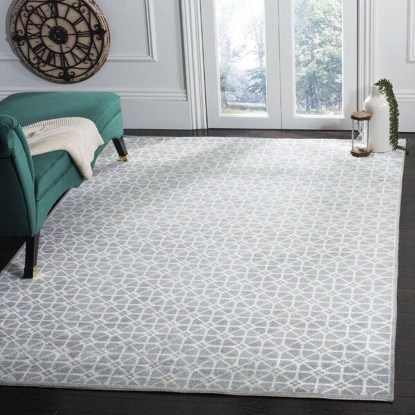Darrow Hand-Knotted Blue Area Rug by Brayden Studio