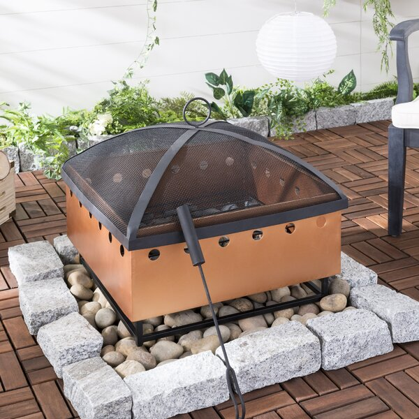 Wyatt Cast Iron Wood Burning Fire Pit by Safavieh