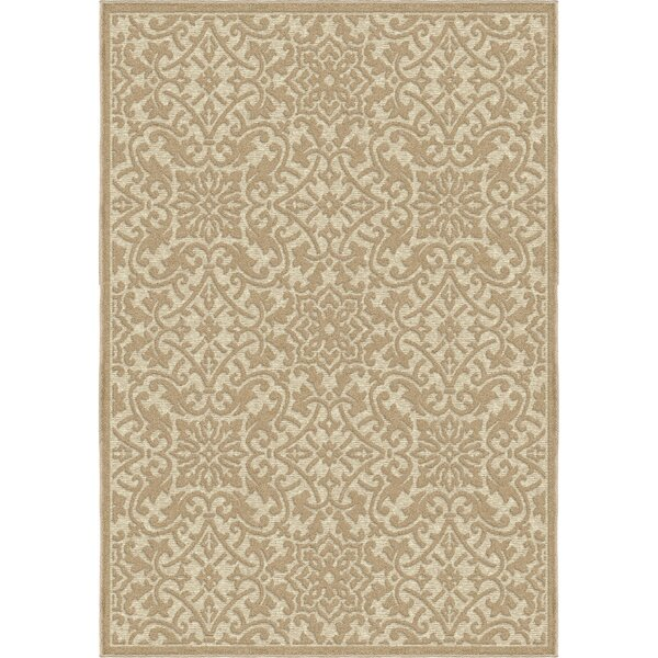 Cherwell Beige Indoor/Outdoor Area Rug by Ophelia & Co.