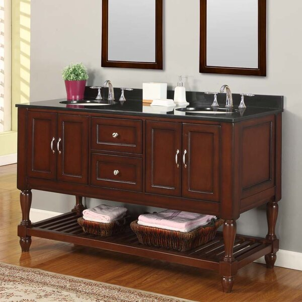 Mission Turnleg Spa 61 Double Bathroom Vanity Set by Direct Vanity Sink