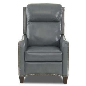 Crawfordsville Leather Power High Leg Recliner by Darby Home Co