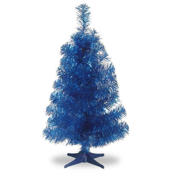 Tinsel Trees 3 Blue Artificial Christmas Tree and Stand by National Tree Co.