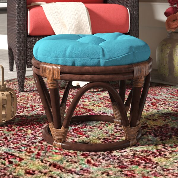 Magana Outdoor Ottoman With Cushion By World Menagerie