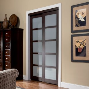 Baldarassario 2 Panel Painted Sliding Interior Door & Interior Sliding Closet Doors | Wayfair
