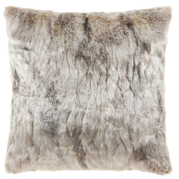Cosima Frosted Faux Fur Throw Pillow by Union Rustic