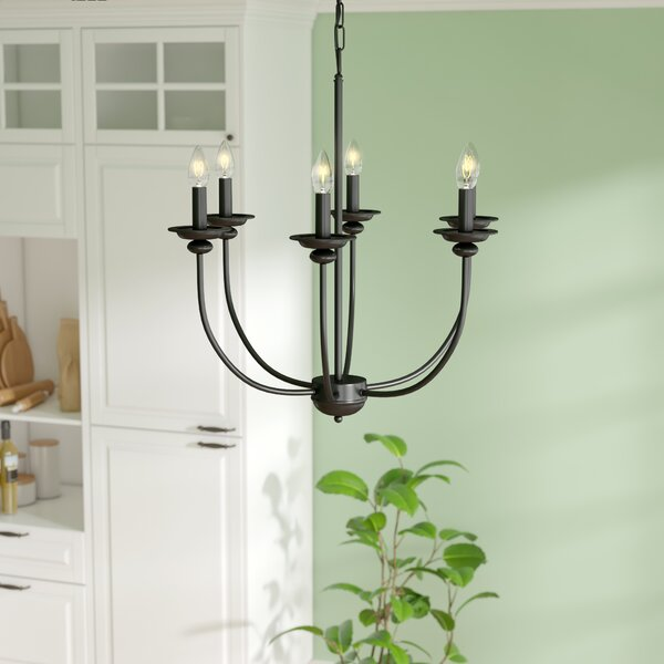 Shirl 6 - Light Candle Style Tiered Chandelier By August Grove