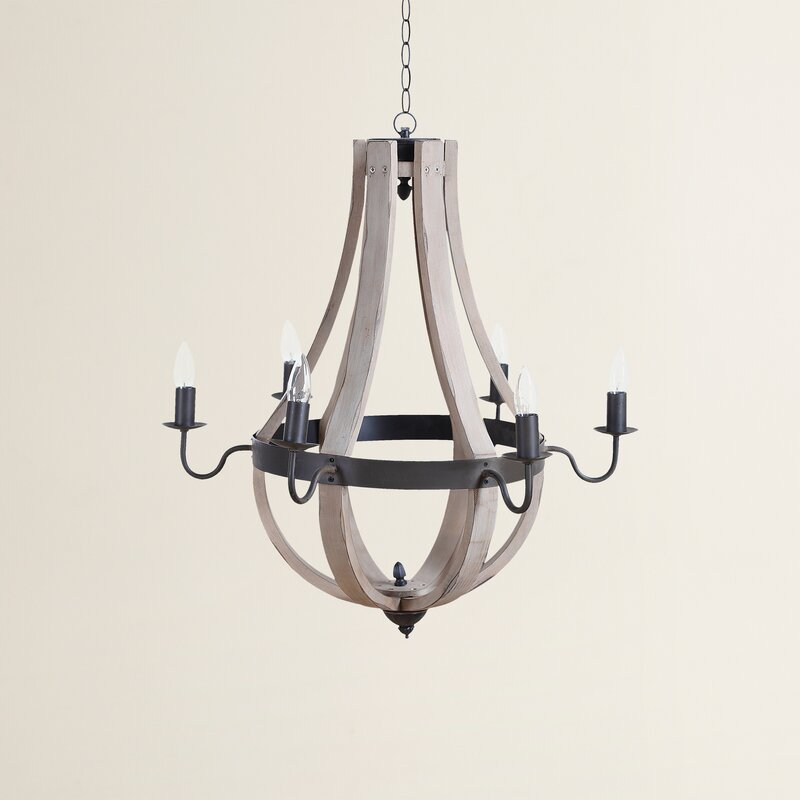 Phifer 6 light candle style chandelier