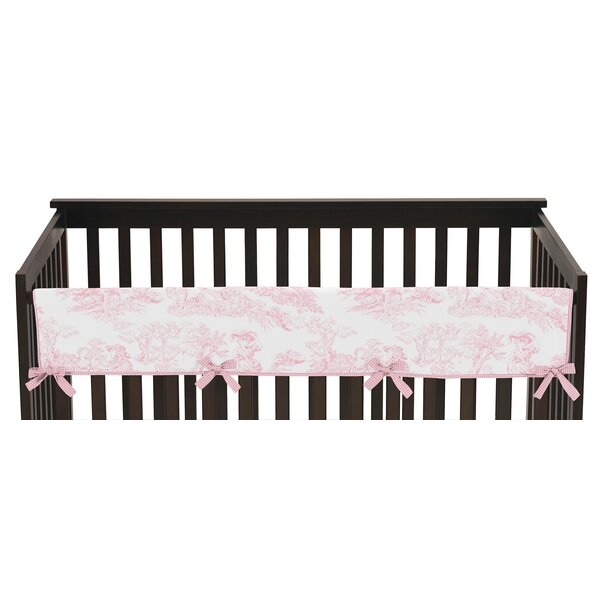 French Toile Long Crib Rail Guard Cover by Sweet Jojo Designs