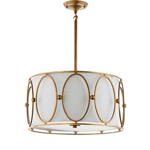 Read Reviews Figaro Metal 3-Light Drum Chandelier By Everly Quinn