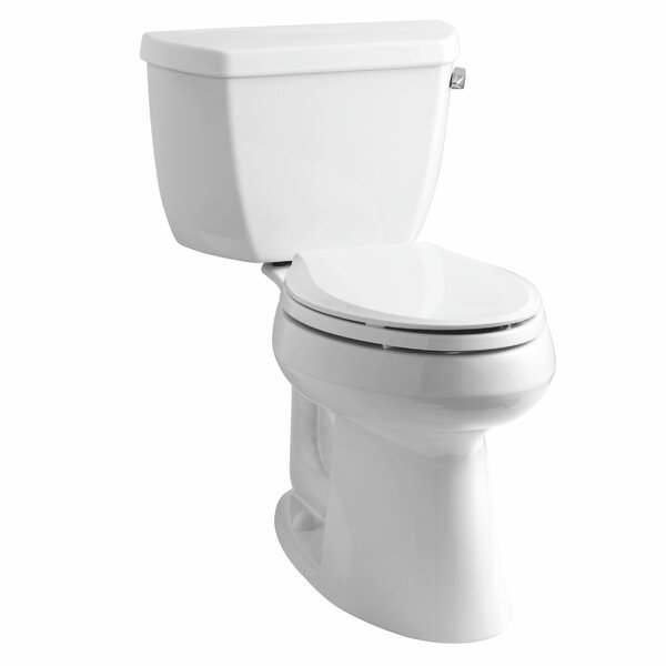 Highline Classic Comfort Height Two-Piece Elongated 1.28 GPF Toilet with Class Five Flush Technology and Right-Hand Trip Lever by Kohler