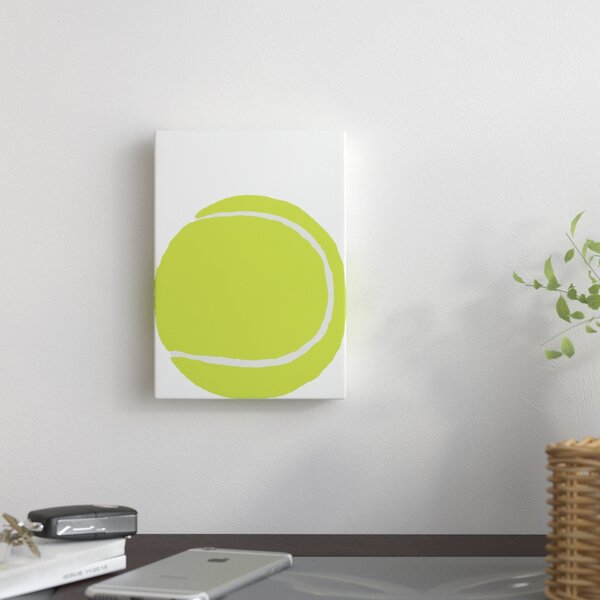 Tennis Ball Graphic Art on Wrapped Canvas by East Urban Home