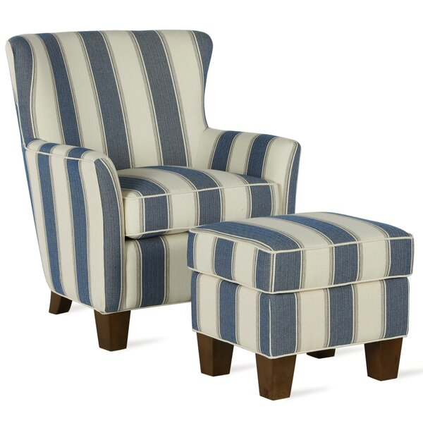 Hayfield Armchair Chair and Ottoman by Gracie Oaks