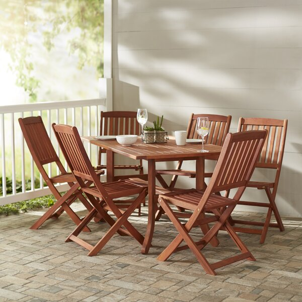 Monterry Rectangular Wood 7 Piece Dining Set by Beachcrest Home