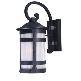 Compare prices Johnnie 1-Light Outdoor Wall Lantern By Latitude Run