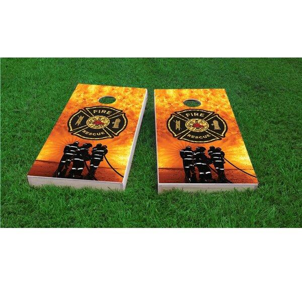 Firefighter Maltese Cross Light Weight Cornhole Game Set by Custom Cornhole Boards