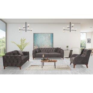 Roloff 3 Piece Standard Living Room Set by Rosdorf Park