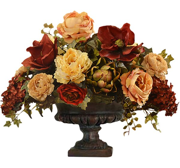 Mixed Centerpiece in Decorative Vase by Floral Home Decor