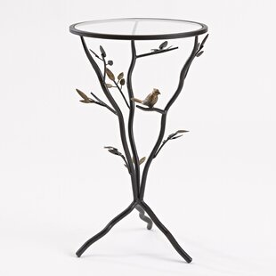 Online Reviews Glass Bird Table with Removable Glass Top By InnerSpace Luxury Products