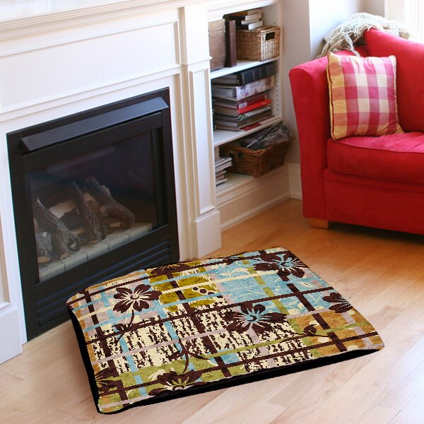 Floral Study in Plaid Pet Bed by Manual Woodworkers & Weavers