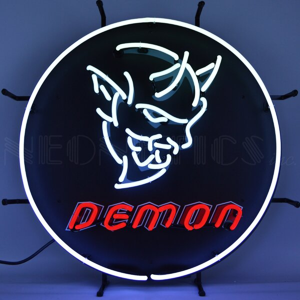 Dodge Demon with Backing Wall Light by Neonetics
