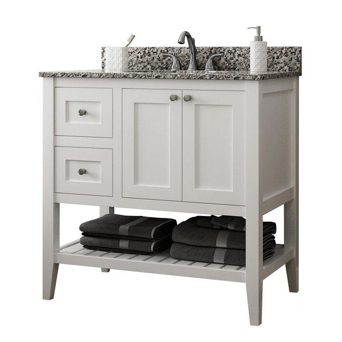 Bathroom Vanity Base Cabinets.Vanguard 36 Left Drawer Single Bathroom Vanity Base Only