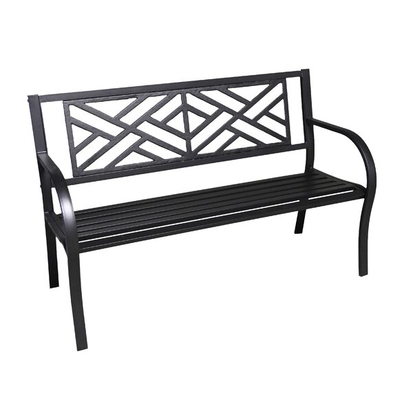 Carlisle Metal Garden Bench by Beachcrest Home