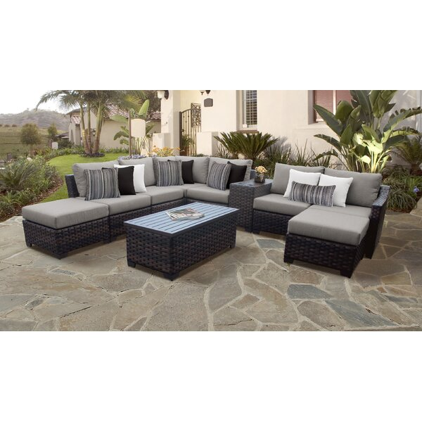 kathy ireland Homes and Gardens River Brook 10 Piece Sectional Seating Group by TK Classics