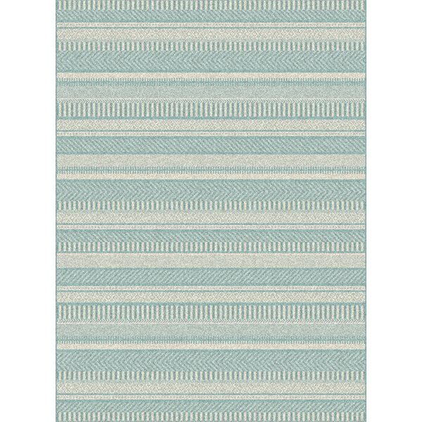 Armstrong Geometric Light Grey/Blue Outdoor Area Rug by Ebern Designs