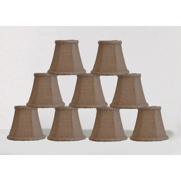 5 Burlap Bell Candelabra Shade with Trim (Set of 9) by Bay Isle Home