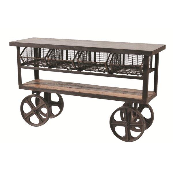 Kaden 4 Drawer Sever Cart by 17 Stories