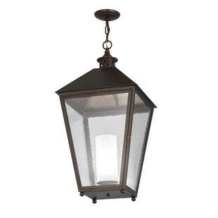 Greenbriar Oak Stafford 1-Light Lantern Pendant by Meyda Tiffany