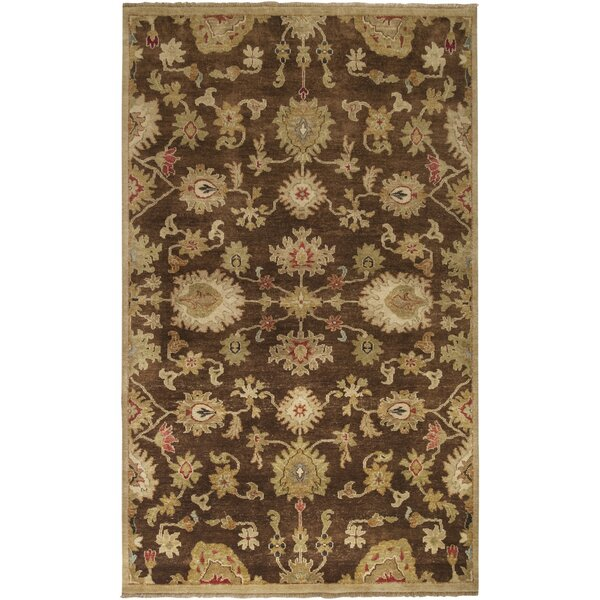 Carrickfergus Hand-Knotted Brown Area Rug by Charlton Home