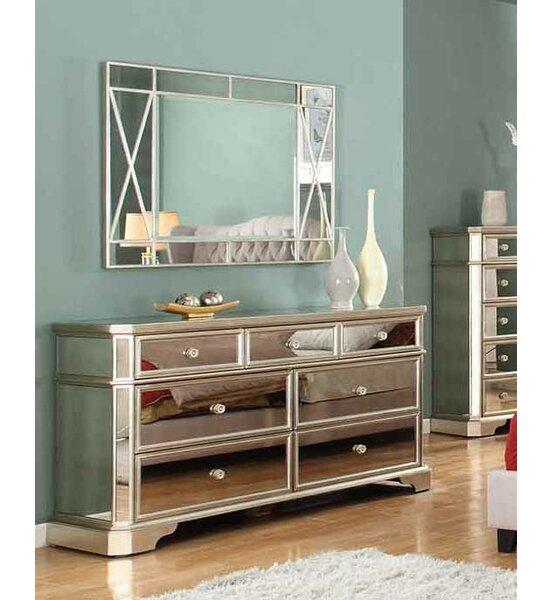 Rojas 7 Drawer Dresser with Mirror by Rosdorf Park