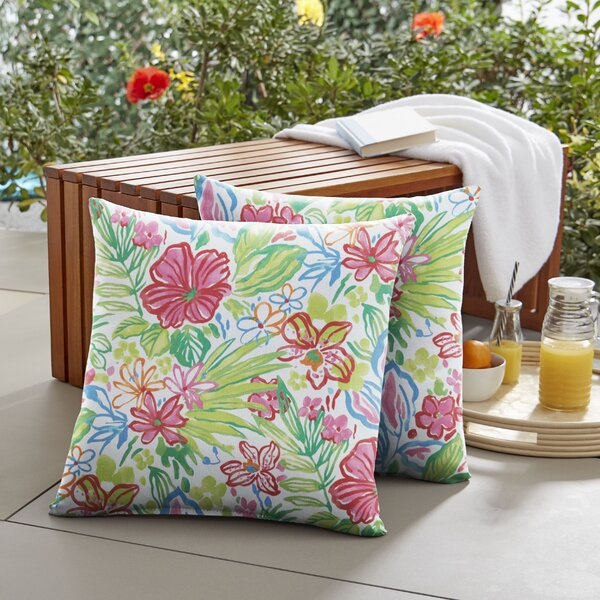 Marie Indoor/Outdoor Throw Pillow (Set of 2) by Mozaic Company
